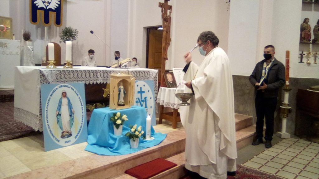 Slávenie sviatku PMZM a požehnanie kaplnky Panny Márie v Chlebniciach